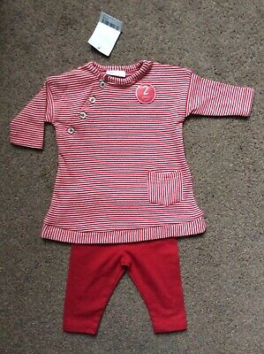BNWT Next Baby Girls Red Christmas Outfit Dress Leggings Set Size Age Newborn