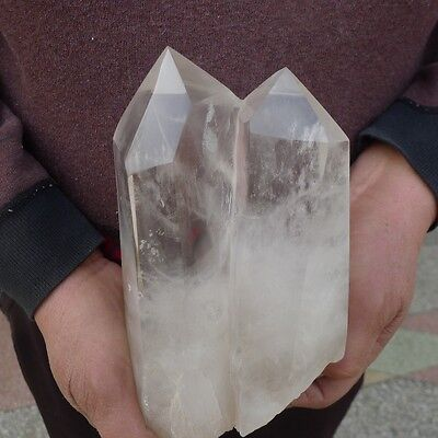 5.5LB AAA+++ Natural white Quartz Crystal Point Cut Polished Healing