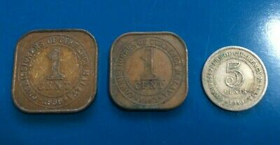 Commissioners of Currency Malaya, 1939 large cent, 1943 small cent, 1950 5 cent