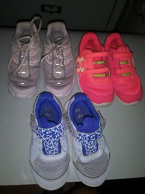 Under Armour Engage 3 Toddler Girls'lot nike  Athletic Running Shoes US 8C & 9K