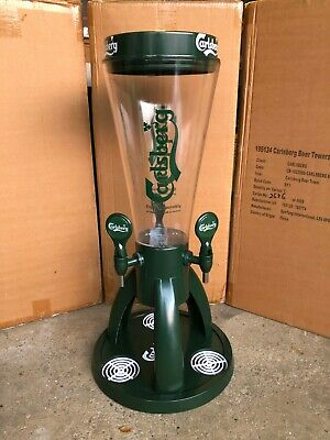 Carlsberg Beer Tower 8 Pint Dispenser 3 taps Football Man Cave