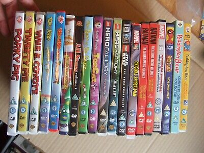 Job lot bundle 7x Childrens DVDs Dr Seuss, Spiderman Looney tunes Mickey mouse +