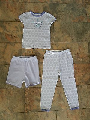 FABULOUS Girl's 3 Piece CARTER'S Pyjama Set Age 3 Purple Princess From USA