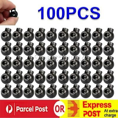 100PCS High Material Single Hole Spring Cord Locks Round Toggle Stoppers