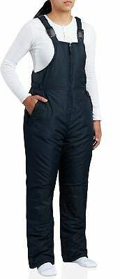 CHEROKEE Women's Insulated Snow Bib - Water Resistant Ski Overall Pants (Plus...