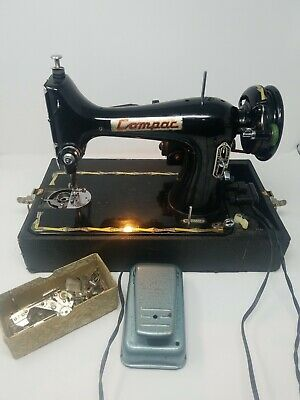 Vintage Compact Sewing Machine Made in Japan. Parts or repair Untested