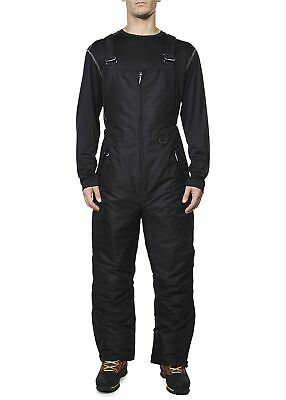 New Arctic Quest Mens Insulated Water Resistant Ski Snow Bib Pants Medium Black