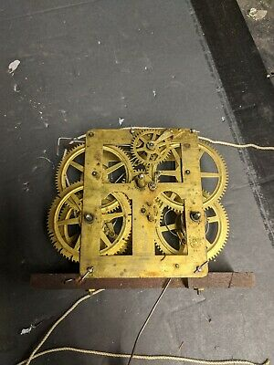 Antique Ogee Weight Driven Clock Movement Parts Repair or fix