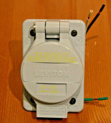 Leviton LNR96-1 Industrial Rated Straight Blade Receptacle 15A 125V