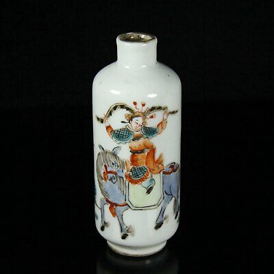 Chinese Exquisite Handmade porcelain snuff bottle