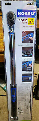 Kobalt 1/2-in Drive 12.5-ft lb to 250-ft lb Programmable Torque Wrench 0856839