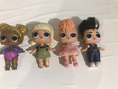 LOL Surprise Dolls Girl Lot of 4 with Clothing no Accessories