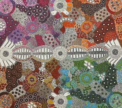 Aboriginal Art by Margaret Wallace Bush Berries 950x1100 2018