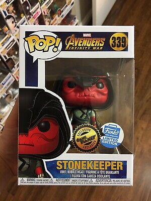Funko Pop! STONEKEEPER Marvel Infinity War Game Planet Funko Shop With Protector