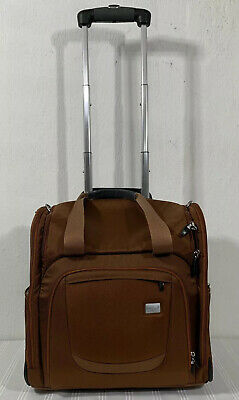 Eagle Creek Rolling Wheeled Luggage Carry On Travel Bag Brown Suitcase EXCELLENT
