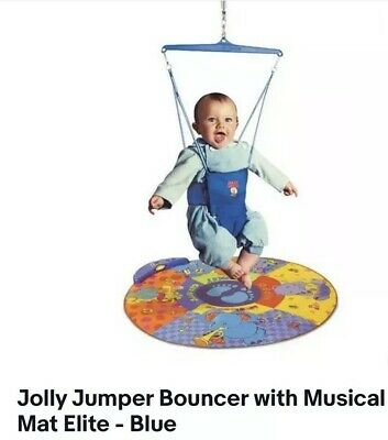 Jolly Jumper Bouncer with Musical Mat Elite Blue Included