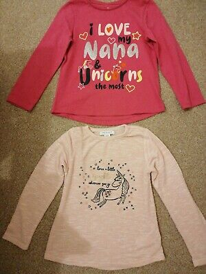 Girls pack of two long sleeve tops age 5-6 years