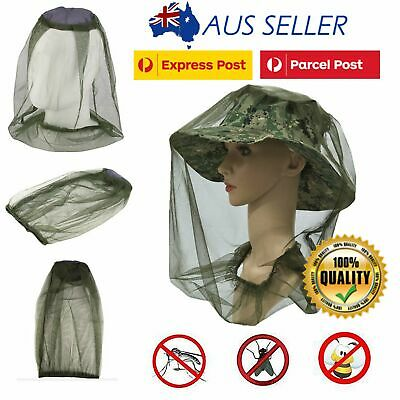 4xFLY MOSQUITO INSECT HEAD NET MESH HAT BEE BUG MOZZIE PROTECTOR OUTDOOR FISHING