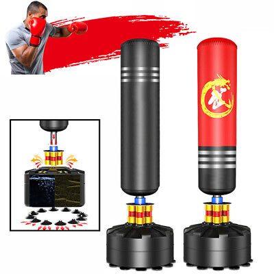 Free Standing Boxing Punch Bag Kick Heavy Duty Filled MMA Martial Art Home 5.7FT