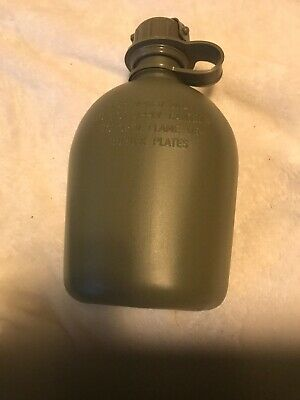 US Military 1 Quart QT HARD RIGID PLASTIC 1QT CANTEEN Desert Tan NEW