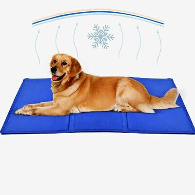 Pet Summer Cooling Mat Cold Gel Pad Comfortable Cushion for Dog Cat Puppy UK