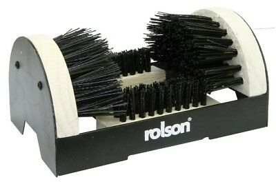 Rolson Boot & Shoe Scrubber Cleaner Brush Portable Durable Steel & Wood 61006