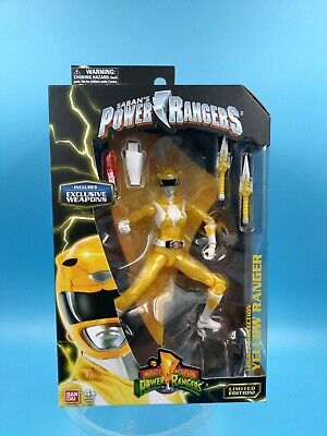 figurine neuf bandai mighty morphin power rangers yellow ranger limited edition