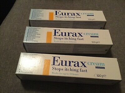Eurax cream 100g x3 new stop itching fast