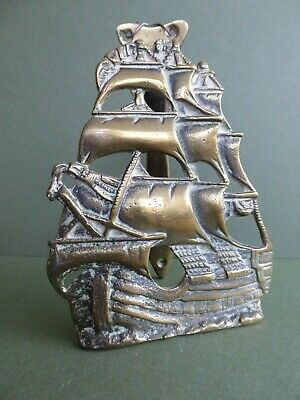 SUPERB Orig RARE 20thC ANTIQUE Ship-of-the-line/ Galleon DOOR KNOCKER c1919-25