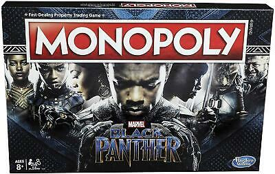 Monopoly Game Black Panther Edition Features Marvel Black Panther Theme Location