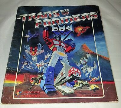 Transformers : Vintage Panini Sticker Album from 1986 : 100% Complete