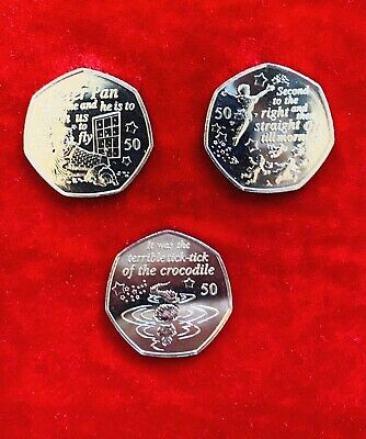 2019 Peter Pan 50p Fifty Pence Coins Uncirculated Coins Isle Of Man