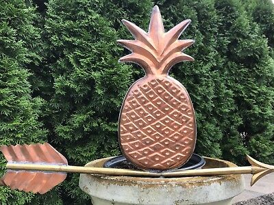 Vintage Copper Pineapple Weathervane  With Large Arrow