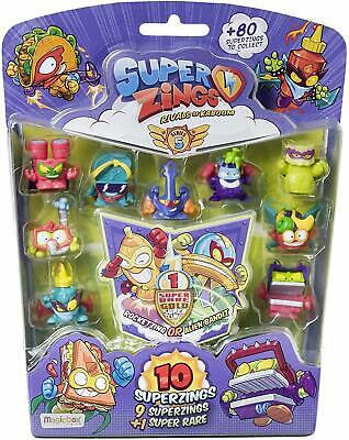 Superzings Series 5 Pack Of 10 Blister New Sealed Free Gift Worht £2 When Purcha