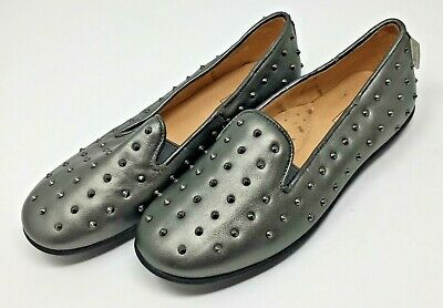 Step2wo Old Silver Slipon Shoes with Studs Detail  Size 31 / UK Size 12.5