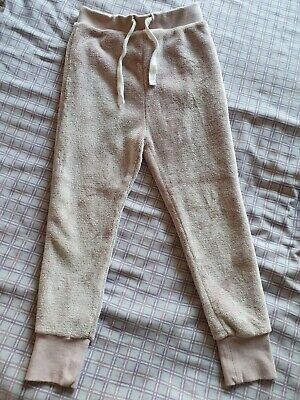 Soft Warm Girls Next 2017 Dusky Pink Fleece Joggers Jogging Bottoms 5-6 Years