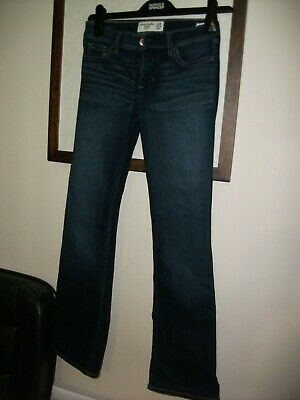 bnwot girls abercrombie and fitch jeans boot slim  13-14 years