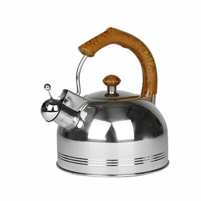 Whistling Stainless Steel Kettle 2L Silver Hob Stove Gas Fast Boil Handle New