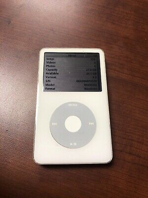 Apple iPod classic 5th Generation White (30 GB) Works Good