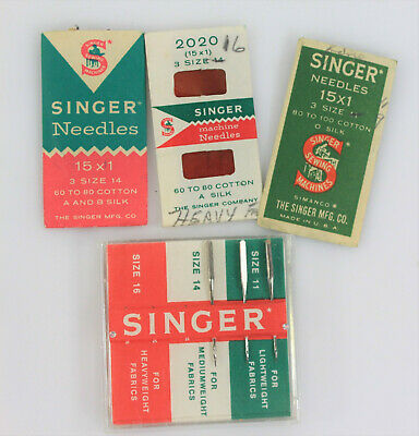 Singer Sewing Machine Group of Assorted Vintage Needles