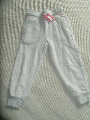 Lovely Girls George Grey Marl & Pink Jogging Tracksuit Bottoms Age 4-5 Years