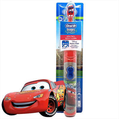 Oral B Kids Disney Cars Electric Battery Powered Toothbrush, Stages Power