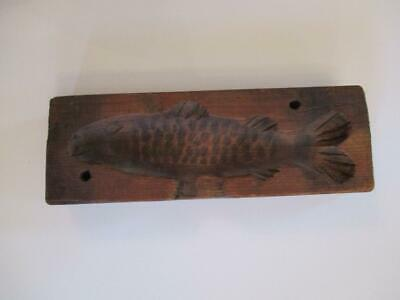Antique Hand Carved Fish Butter Mold
