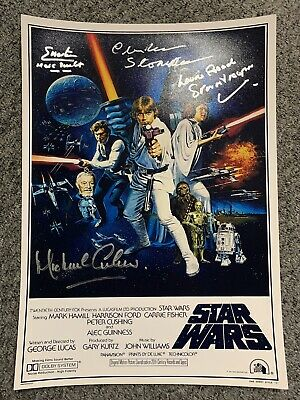 Star Wars A2 Signed Poster. Laurie Goode, Michael Culver And More