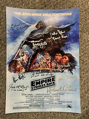 Star Wars Empire Strikes Back A2 Signed Poster.