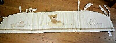 MotherCare Cot Bumper Wrap - Bear Sheep and Bunny Design - Animal - Boys & Girls