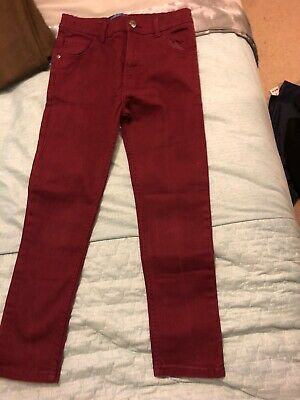 Boys Burgundy Blue Zoo Jeans Age 9