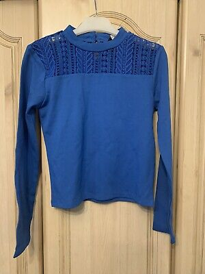 Girls River Island Blue Top Aged 11-12 Years New (No Tag)