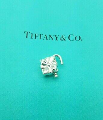 Tiffany & Co Rare Sterling Silver Gift Box Lock Pendant Padlock Charm Only