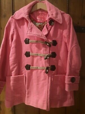 Girls Pink Coat Age 5-6 Yrs  From Next
